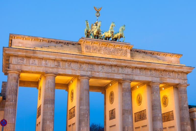 Πύλη του Βραδεμβούργου (σκαπάνη Brandenburger) στοκ φωτογραφία
