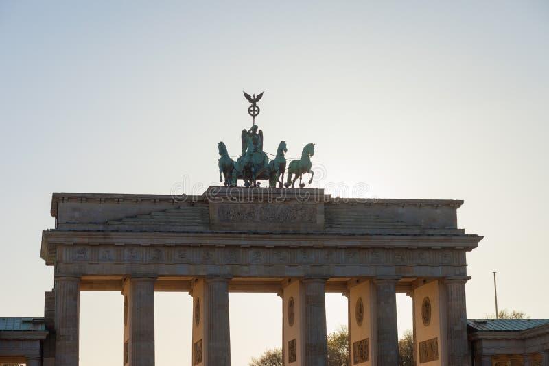 Πύλη του Βραδεμβούργου του Βερολίνου στοκ φωτογραφία με δικαίωμα ελεύθερης χρήσης
