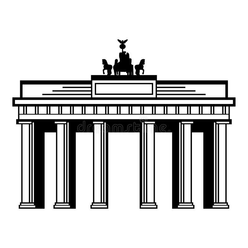 πύλη του Βραδεμβούργου στοκ φωτογραφίες με δικαίωμα ελεύθερης χρήσης