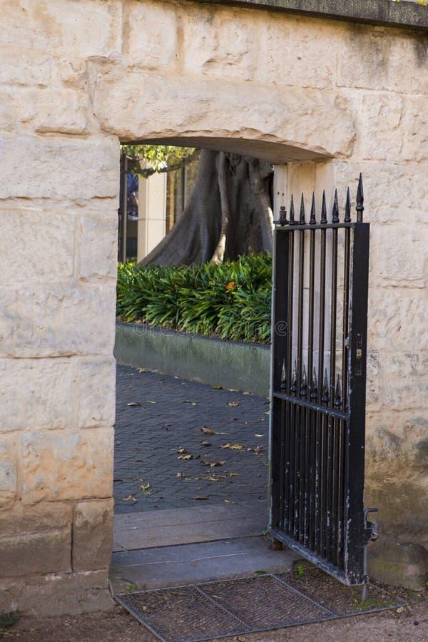 Πύλη ψαμμίτη στοκ φωτογραφίες με δικαίωμα ελεύθερης χρήσης