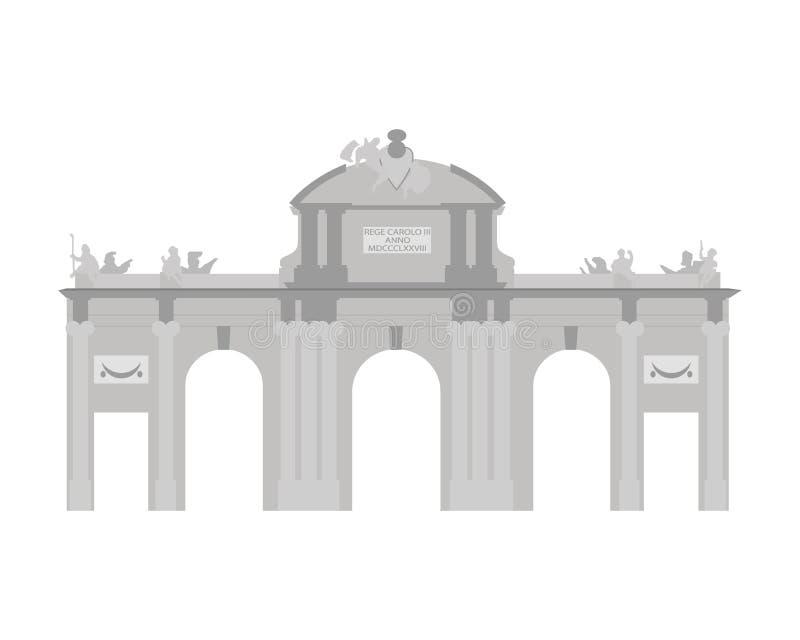 Πύλη Alcala, Μαδρίτη, Ισπανία επίσης corel σύρετε το διάνυσμα απεικόνισης διανυσματική απεικόνιση