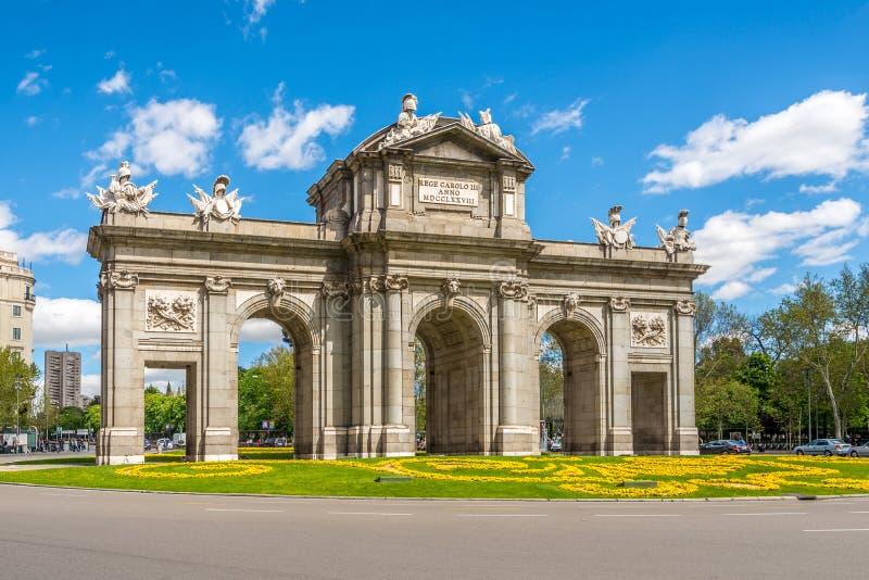 Πύλη Alcala της Μαδρίτης στοκ εικόνες
