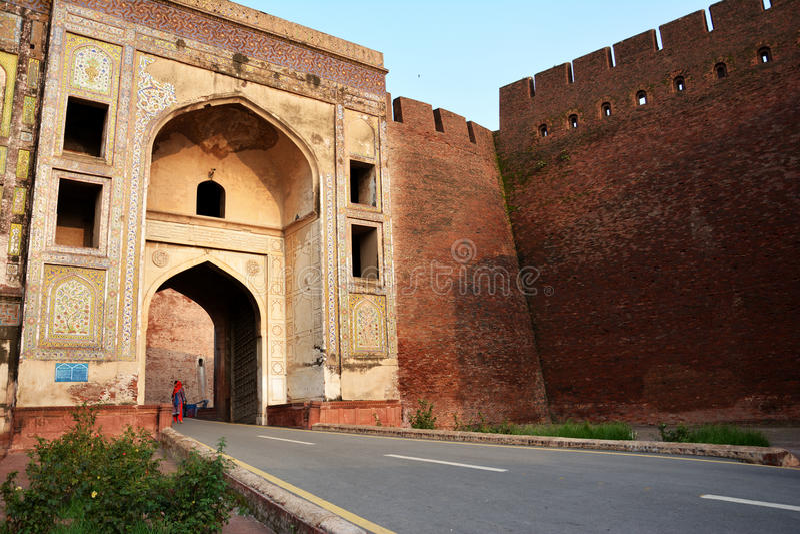 Πύλη Burj Shah - οχυρό Lahore στοκ εικόνες