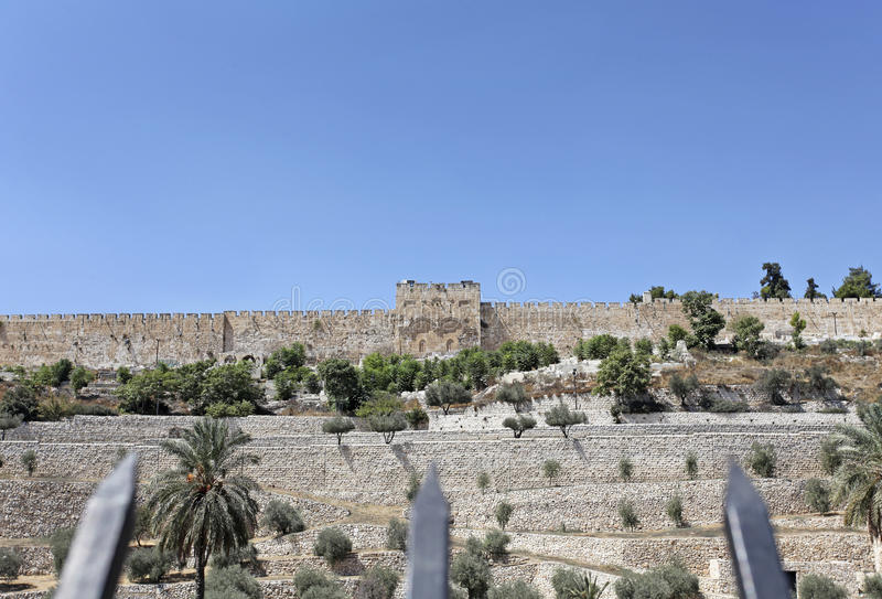 Πύλη Goden στην Ιερουσαλήμ Ισραήλ στοκ εικόνες