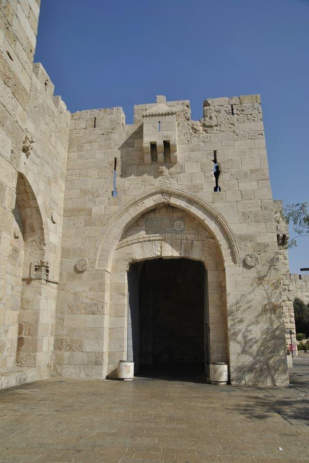 Πύλη Jaffa, Ιερουσαλήμ, Ισραήλ στοκ εικόνα με δικαίωμα ελεύθερης χρήσης