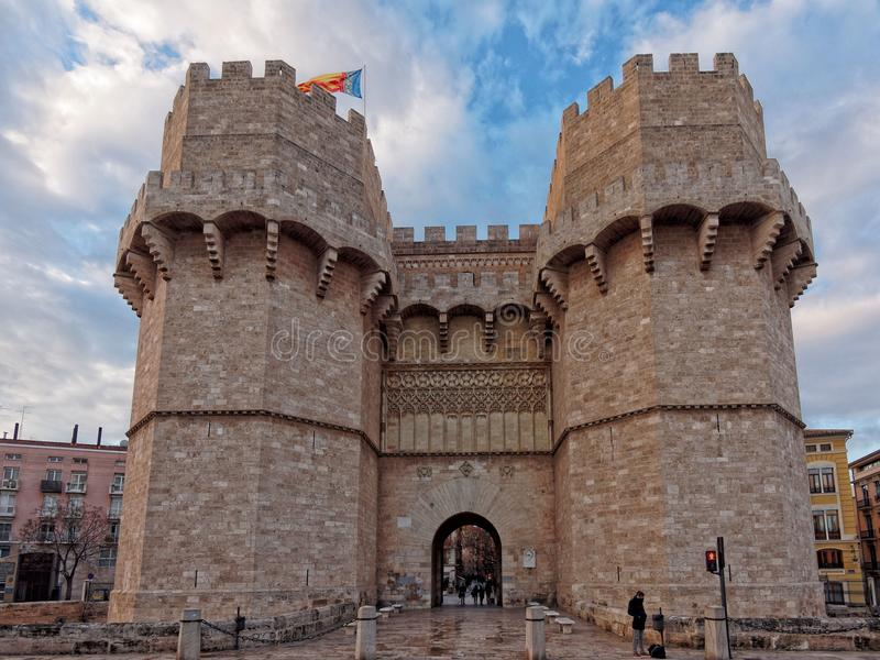 Πύλη Serranos στοκ εικόνα με δικαίωμα ελεύθερης χρήσης