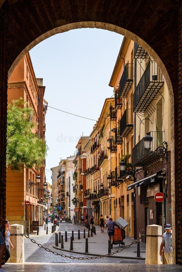 Πύλη Torres de Quart In Βαλένθια στοκ εικόνες