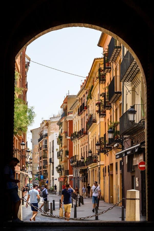 Πύλη Torres de Quart In Βαλένθια στοκ φωτογραφίες με δικαίωμα ελεύθερης χρήσης