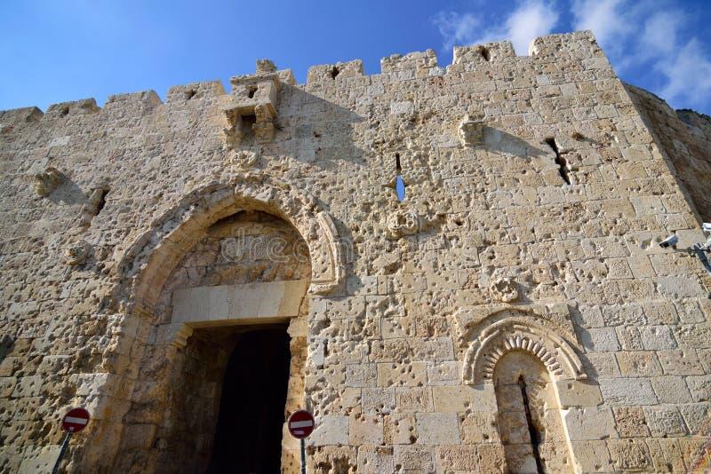 Πύλη Zion στην παλαιά Ιερουσαλήμ στοκ φωτογραφία