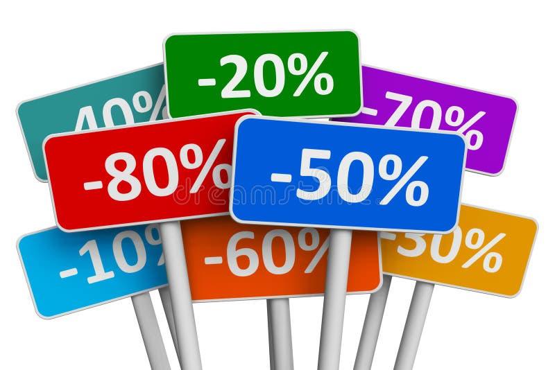 πώληση έκπτωσης έννοιας απεικόνιση αποθεμάτων