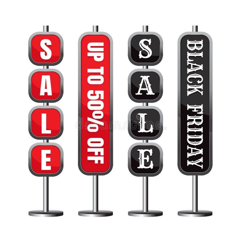Πώληση έκπτωσης μέχρι 50% από το πρότυπο μαύρη Παρασκευή διάνυσμα bann διανυσματική απεικόνιση