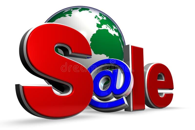 πώληση Διαδικτύου διανυσματική απεικόνιση