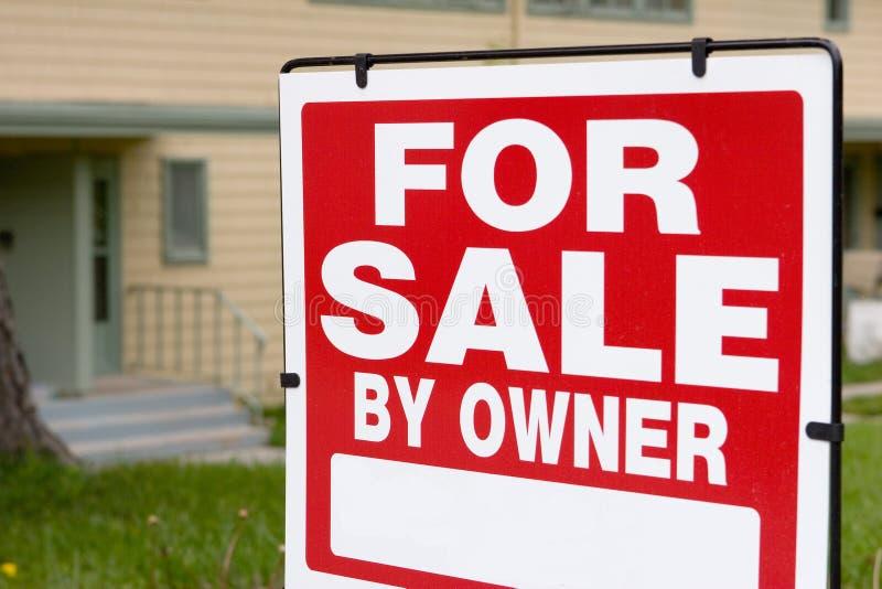 πώληση ιδιοκτητών στοκ εικόνες