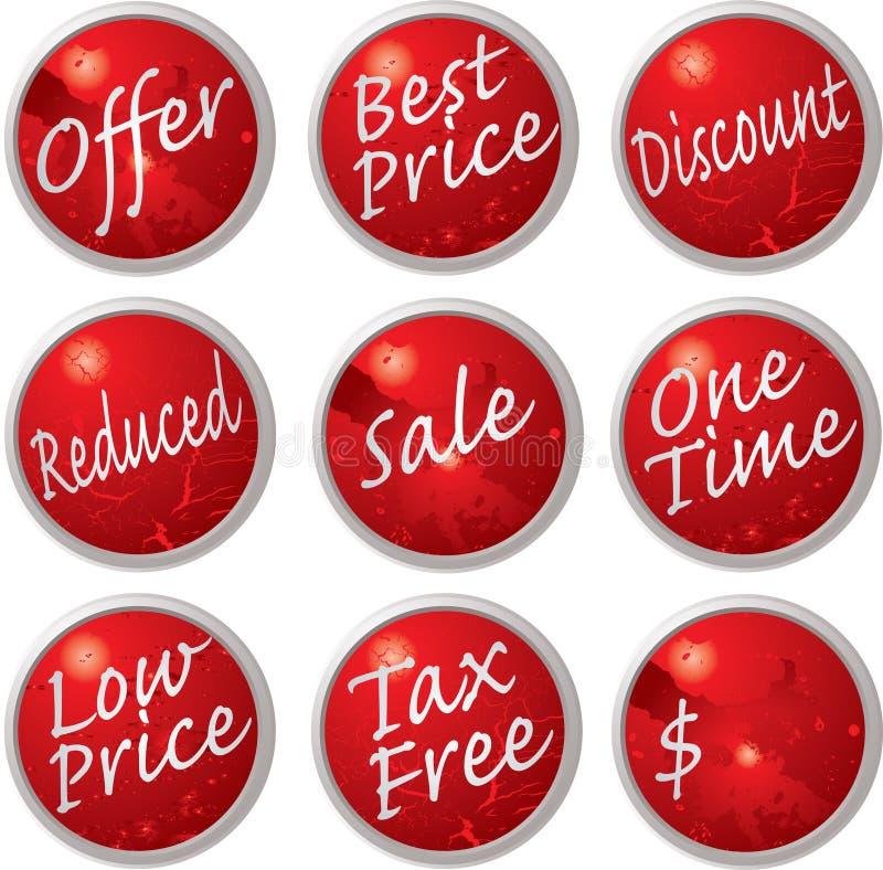 πώληση κουμπιών απεικόνιση αποθεμάτων