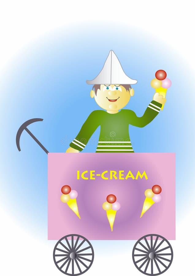 πώληση πάγου κρέμας διανυσματική απεικόνιση