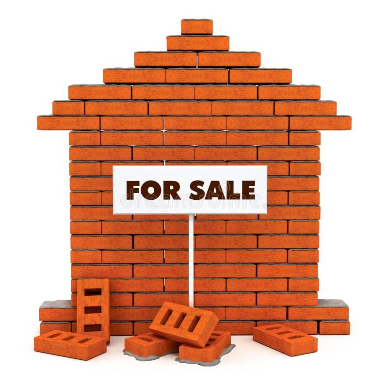 πώληση σπιτιών τούβλου ελεύθερη απεικόνιση δικαιώματος