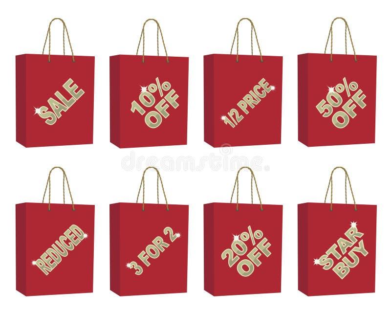 πώληση τσαντών διανυσματική απεικόνιση