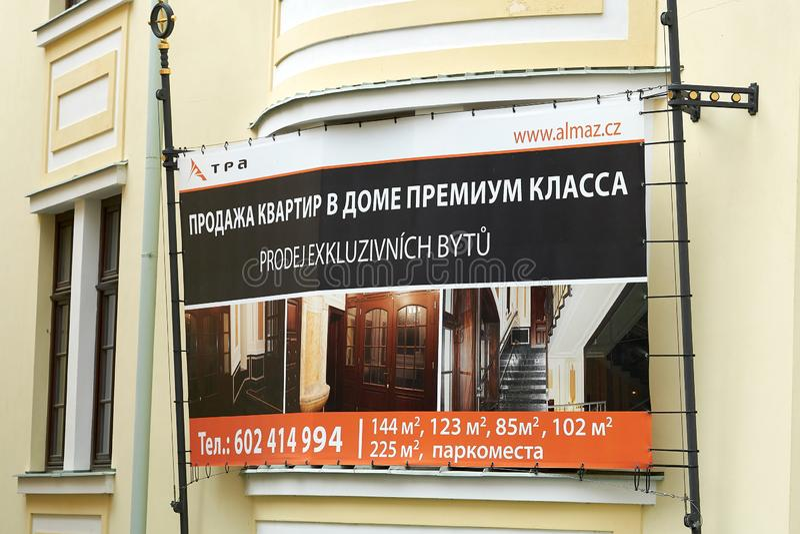 Πώληση των αποκλειστικών πολυτελών condos για τους πλούσιους Ρώσους στοκ εικόνα με δικαίωμα ελεύθερης χρήσης
