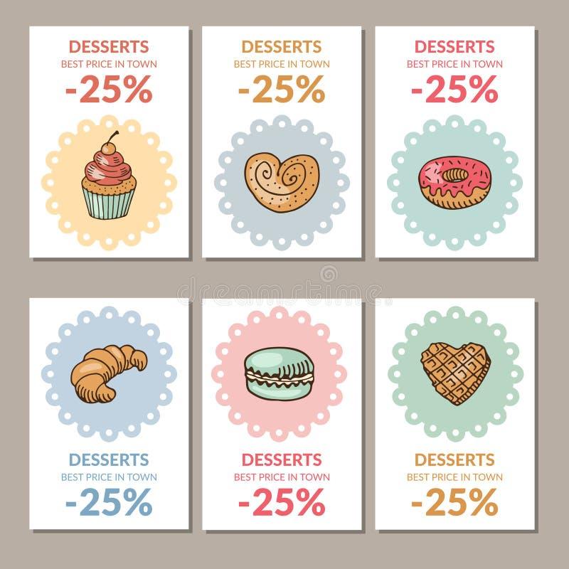 Πώληση των επιδορπίων βιομηχανιών ζαχαρωδών προϊόντων ελεύθερη απεικόνιση δικαιώματος