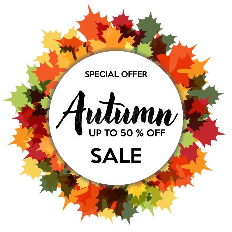 Πώληση φθινοπώρου 50% από την έκπτωση καταστημάτων απεικόνιση αποθεμάτων