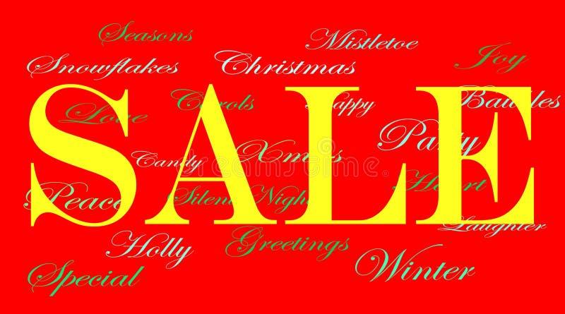 πώληση Χριστουγέννων εμβλημάτων αγγελιών διανυσματική απεικόνιση