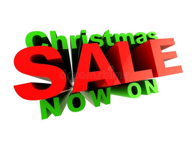 πώληση Χριστουγέννων διανυσματική απεικόνιση