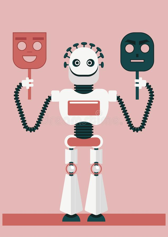 Πώς η τεχνητή νοημοσύνη θα μπορούσε να μας προδώσει και θα βοηθήσει τους απατεώνες ή τους κυβερνοεγκληματίες στοκ εικόνα