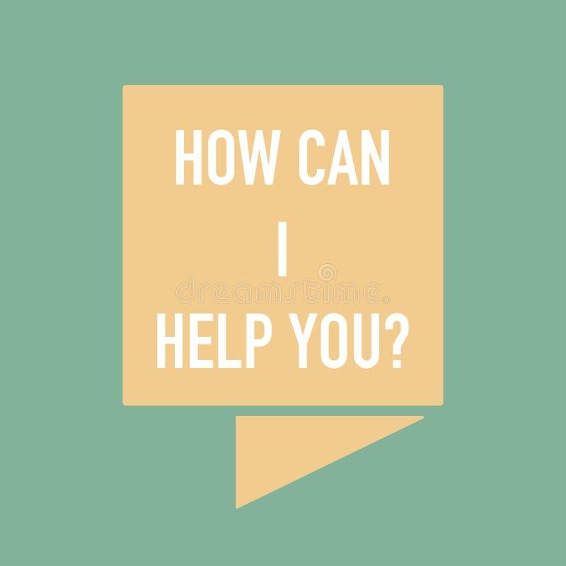 Πώς μπορώ να σας βοηθήσω έμβλημα για το βοηθό ελεύθερη απεικόνιση δικαιώματος