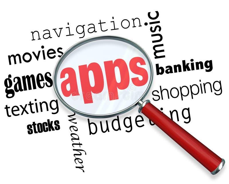 Πώς να βρεί Apps - που ενισχύει - γυαλί διανυσματική απεικόνιση