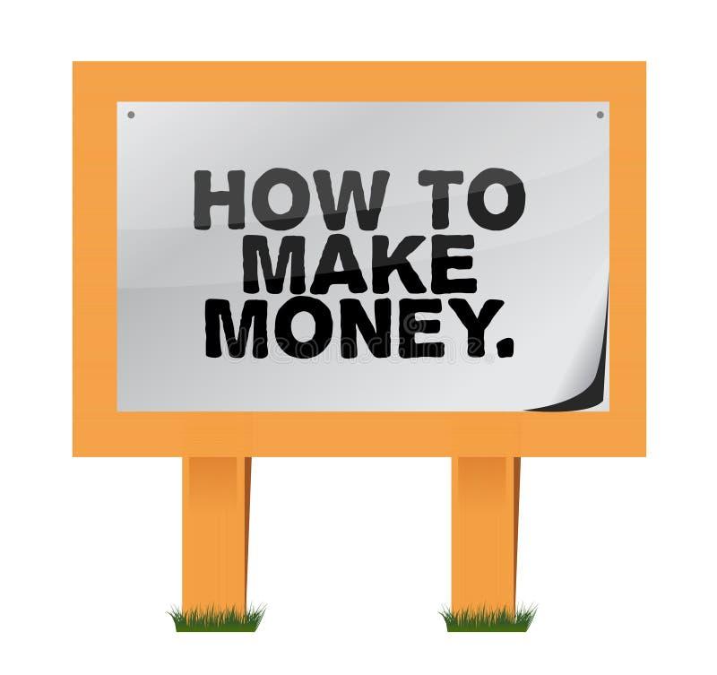 Πώς να κάνει τα χρήματα σε ένα ξύλινο σημάδι διανυσματική απεικόνιση