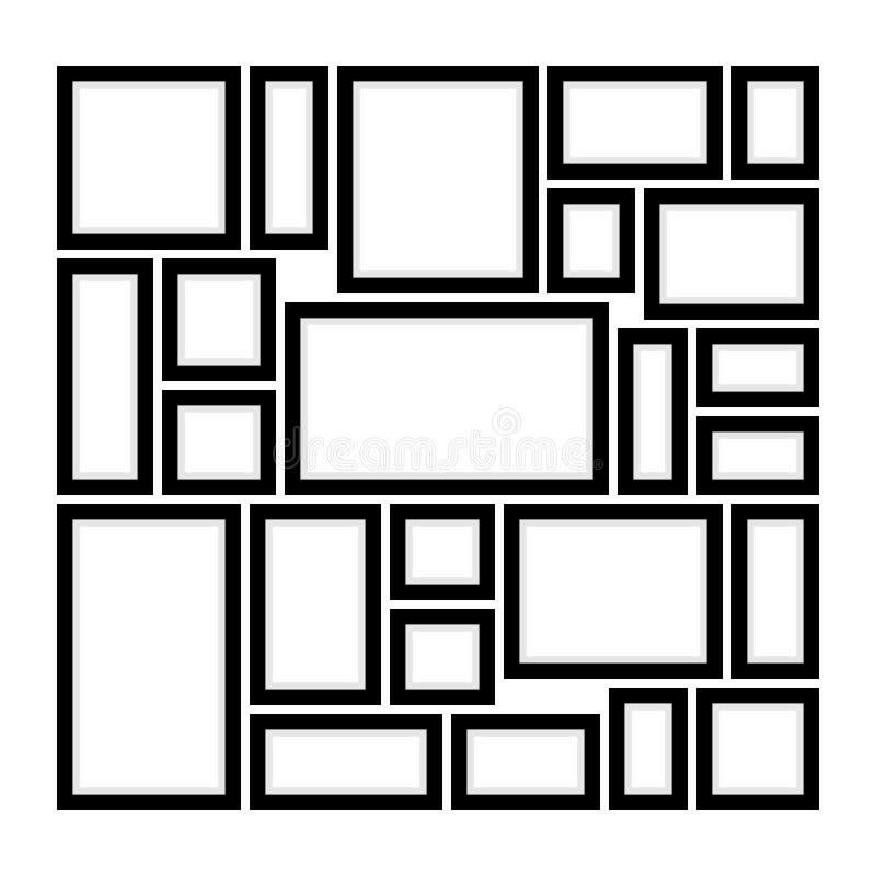 Πώς να κρεμάσει τα πλαίσια στον τοίχο διανυσματική απεικόνιση