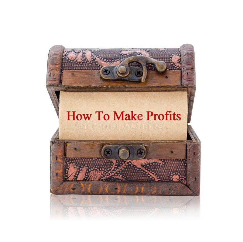 Πώς να πραγματοποιήσει τα κέρδη στοκ φωτογραφία με δικαίωμα ελεύθερης χρήσης