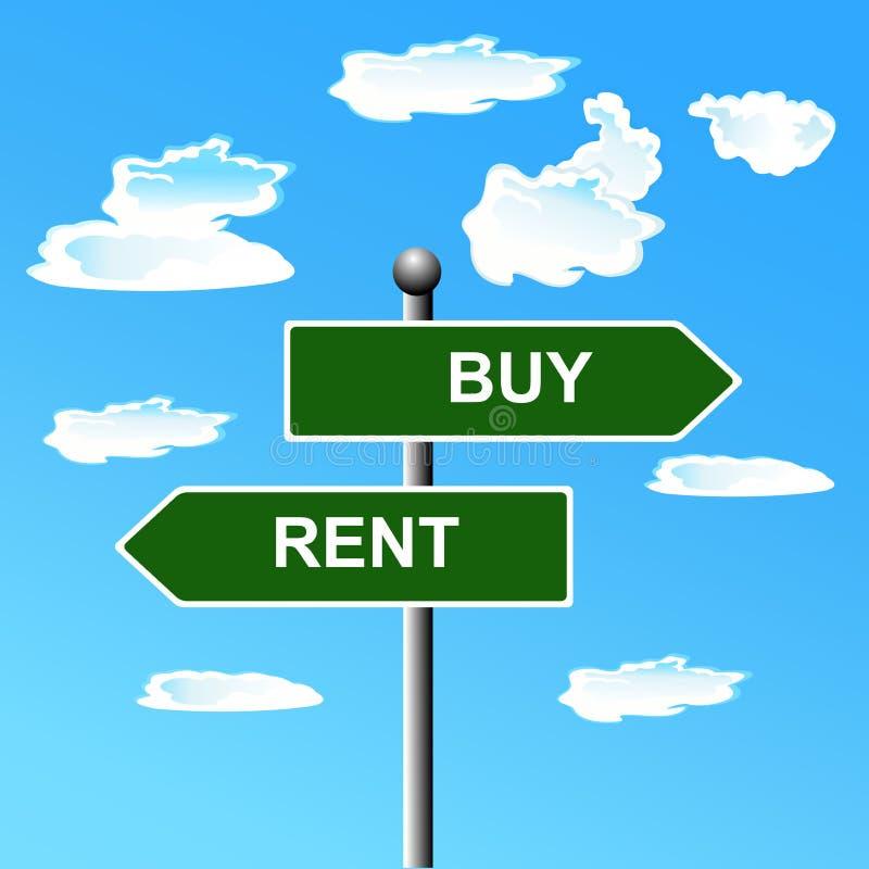 Πώληση αγοράς, διπλής κατεύθυνσης σημάδι οδών, διανυσματική απεικόνιση ελεύθερη απεικόνιση δικαιώματος