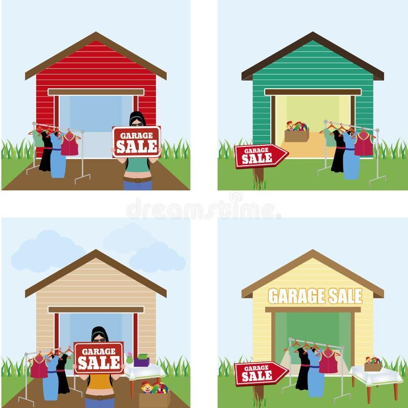 Πώληση γκαράζ απεικόνιση αποθεμάτων