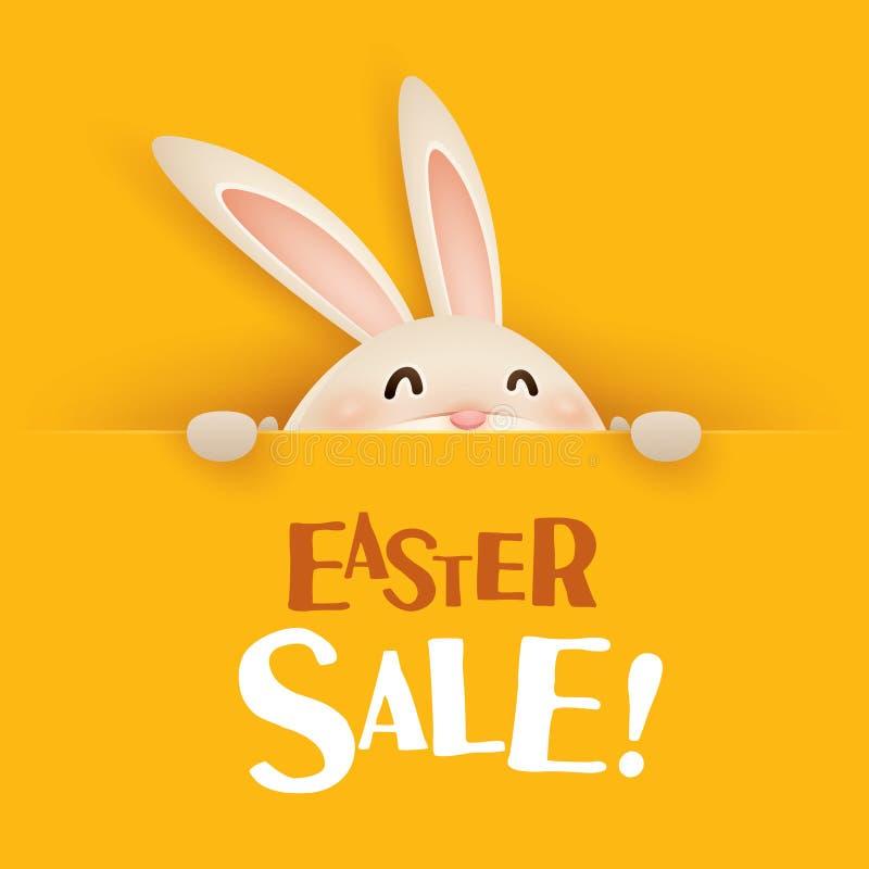 Πώληση Πάσχας! Λαγουδάκι Πάσχας με το μεγάλο σημάδι απεικόνιση αποθεμάτων