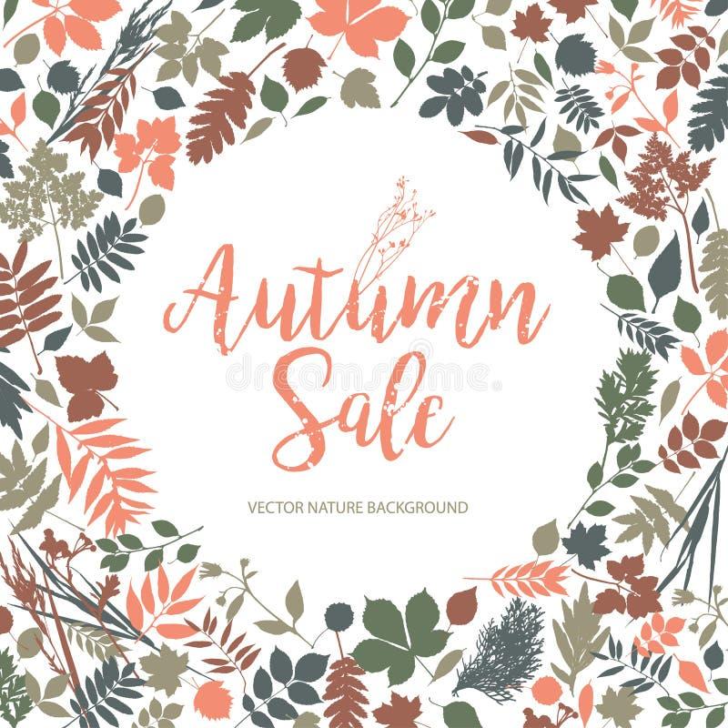Πώληση φθινοπώρου κειμένων απεικόνιση αποθεμάτων