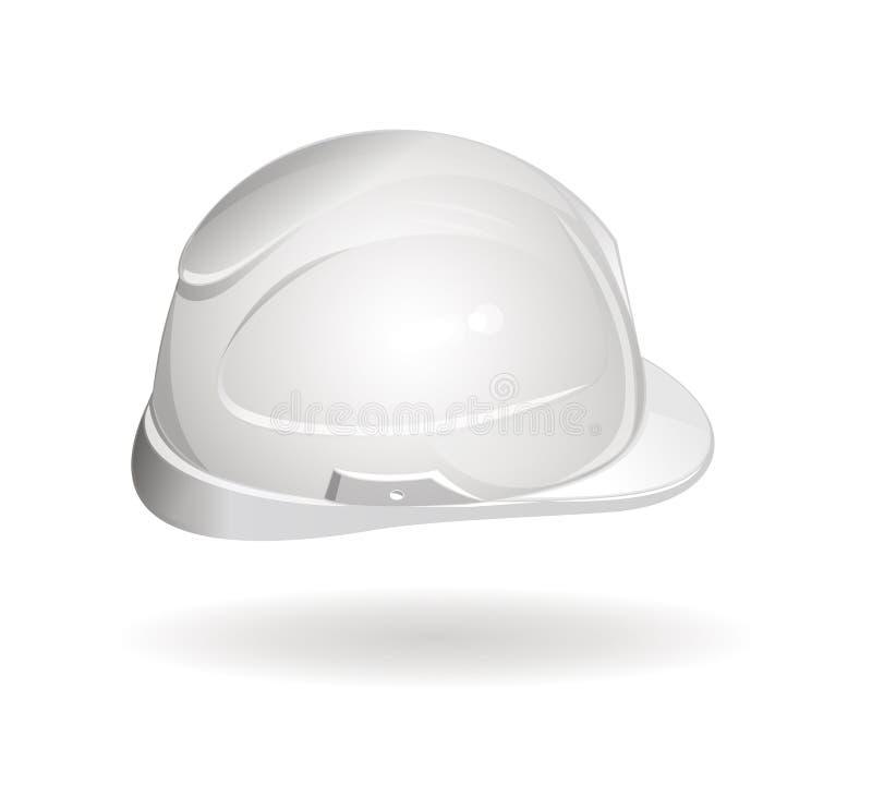 Πλάγια όψη κρανών εργασίας Σκληρό εικονίδιο καπέλων ελεύθερη απεικόνιση δικαιώματος