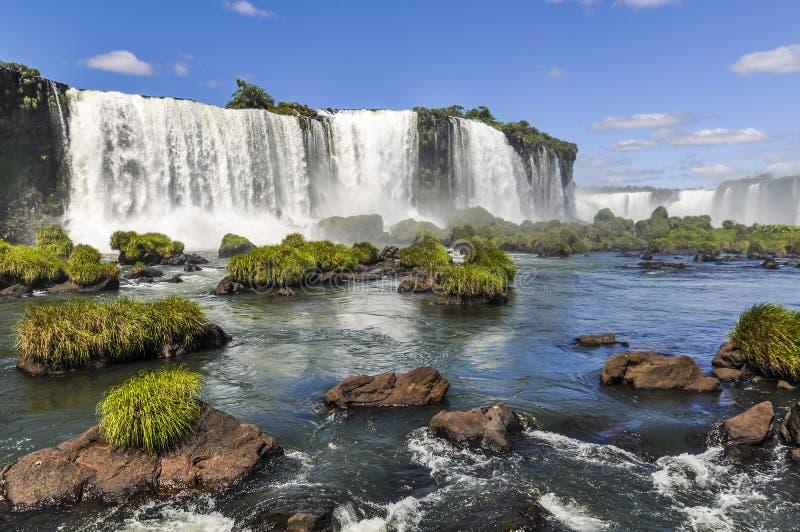 Πλάγια όψη στις πτώσεις Iguazu, Βραζιλία στοκ εικόνες