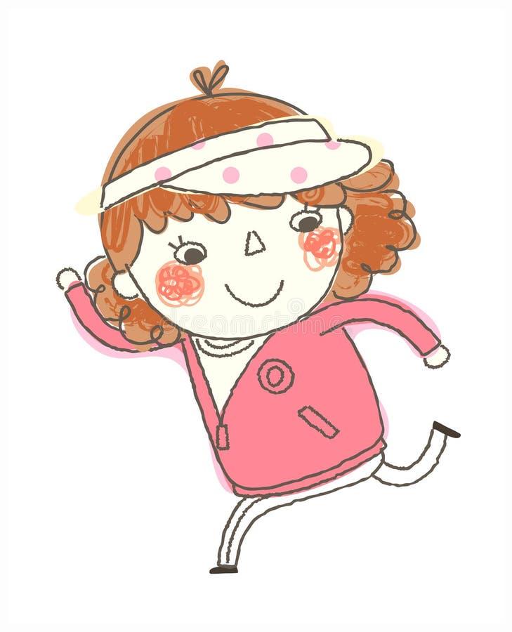Πλάγια όψη του κοριτσιού διανυσματική απεικόνιση