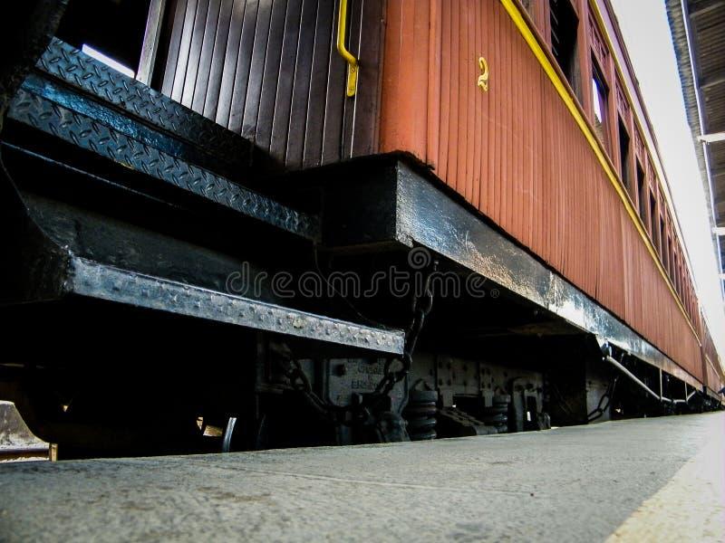 Πλάγια όψη του τραίνου της Μαρίας Fumaça στοκ εικόνες με δικαίωμα ελεύθερης χρήσης
