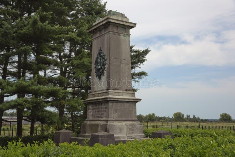 Πλάγια όψη το μνημείο του Brunswick κοντά στους στηθοδέσμους Quatre στοκ εικόνες με δικαίωμα ελεύθερης χρήσης