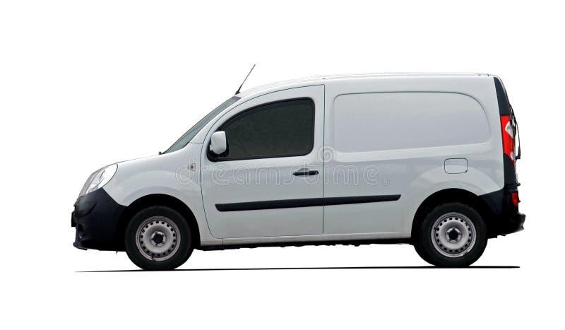 Πλάγια όψη φορτίου van car στοκ εικόνες