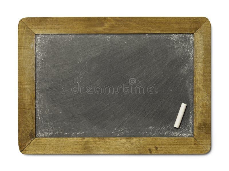 Πλάκα κιμωλίας με την κιμωλία στοκ εικόνα με δικαίωμα ελεύθερης χρήσης