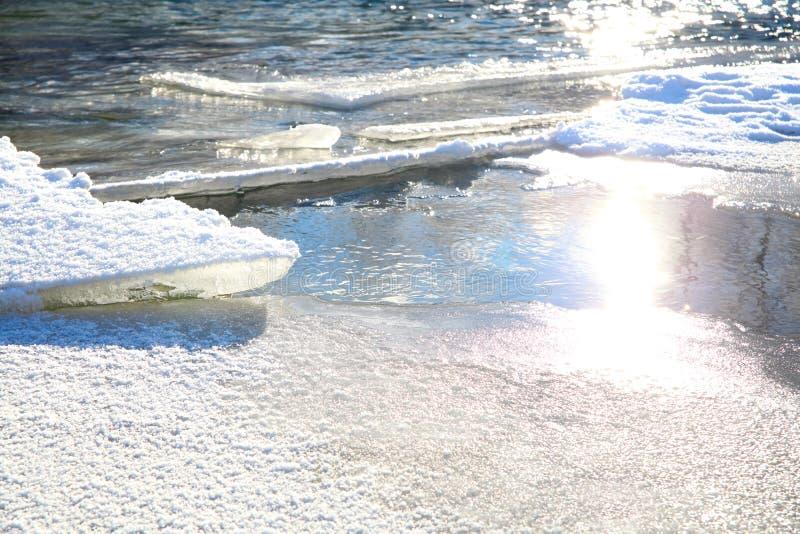 Πλάκες πάγου στοκ φωτογραφία