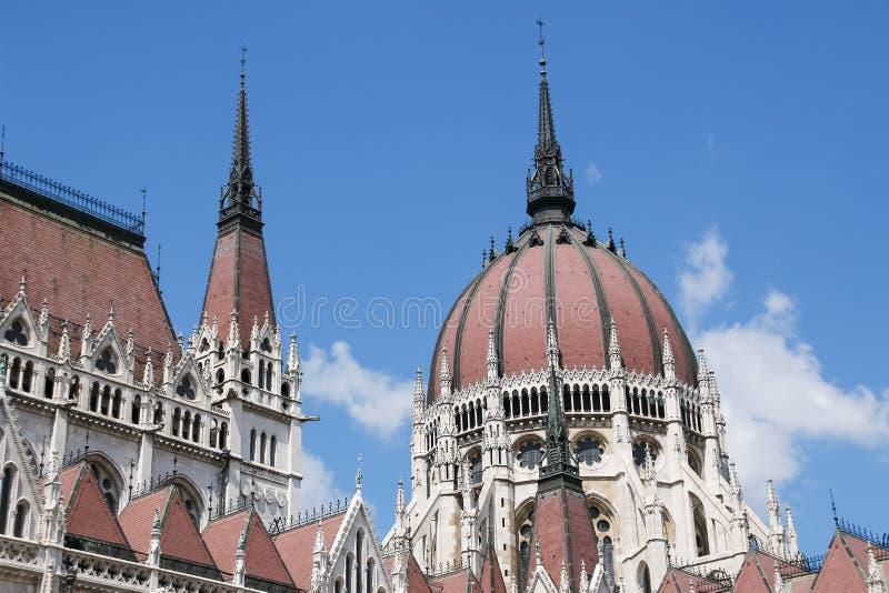πλάνο των Κοινοβουλίων της Ουγγαρίας φίλτρων οικοδόμησης της Βουδαπέστης cpl αρχιτεκτονικές απεικονισμένες λεωφόρος αγορές γυαλιο στοκ φωτογραφία με δικαίωμα ελεύθερης χρήσης