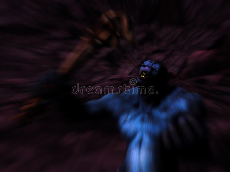 Πλάσμα τεράτων που βρυχάται στη σπηλιά μπουντρουμιών ελεύθερη απεικόνιση δικαιώματος