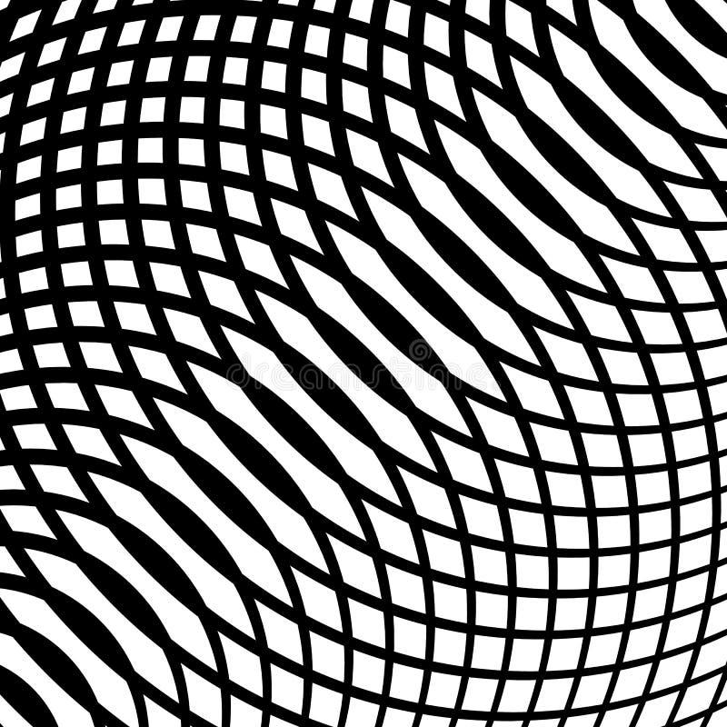 Πλέγμα, πλέγμα των κυρτών γραμμών Κυψελοειδής moire επίδραση Περίληψη geom απεικόνιση αποθεμάτων