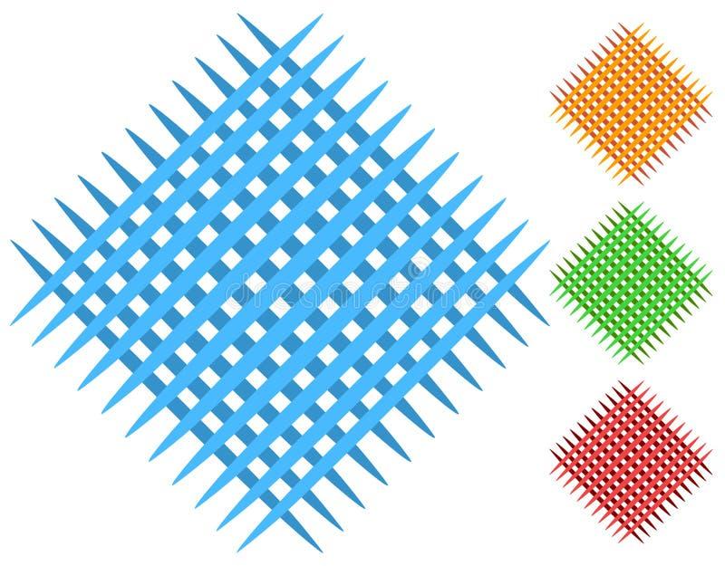 Πλέγμα, στοιχεία μπαλωμάτων πλέγματος στο χρώμα 4 ελεύθερη απεικόνιση δικαιώματος