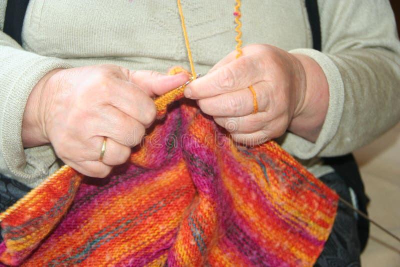 Πλέκοντας μαλλί στοκ φωτογραφία με δικαίωμα ελεύθερης χρήσης