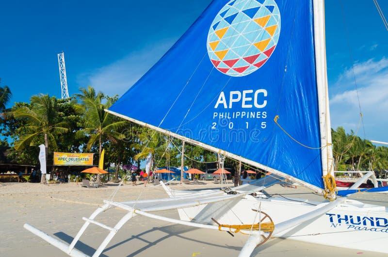 Πλέοντας βάρκα του APEC Φιλιππίνες στοκ φωτογραφίες